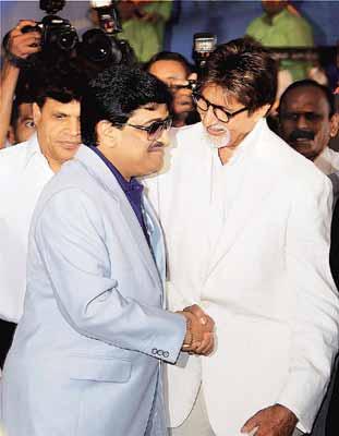 Dawood Ibrahim with Amitab Bachan