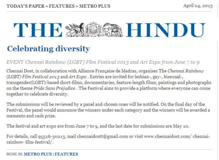 The Hindu - news coverage