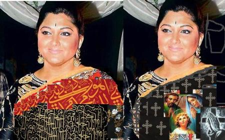 kushboo-with-islamic-christian-border-sarees
