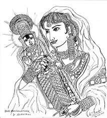 துலுக்கநாச்சி உதாரண சித்திரம்  - ஶ்ரீரங்கம் கோவில்