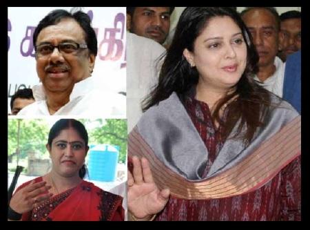 காங்கிரஸ் சண்டை - இளங்கோவன், விஜயதாரிணி, நக்மா