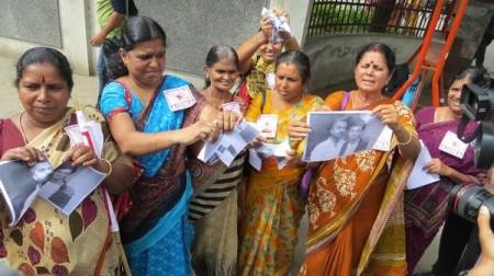 woman protest - சிம்பு, அநிருத் - கோவை