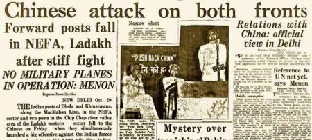 News-paper-headlines-during-1962-Indo-china-war