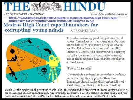 Court raps film makers for obscene songs corrupting youth