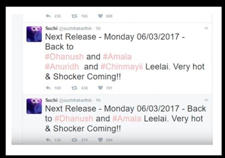 suchis-twitter-next-release-dhanush-amla-paul-leelai