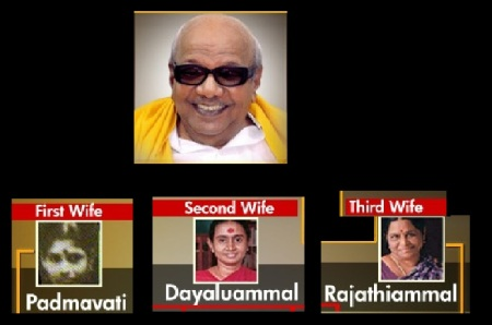 Karunanidhi and his wives
