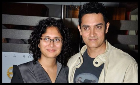 Amir khan and his wife Kiran Rao