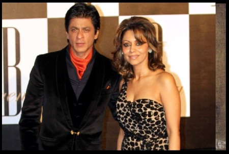 Sharukh khan and his wife Gauri khan